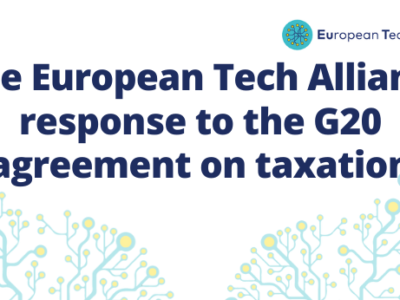 The European Tech Alliance sends a letter in response to the G20 agreement on taxation